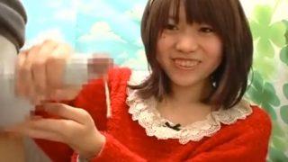 赤面手コキ研究所!どろーッ♥手コキでザーメン出してくれたカチューシャ娘!うぶかわいい素人のCFNM!