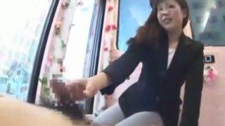 マジックミラー便 オフィス街で働く美女OL編♡パンツスーツのままフェラをしてくれた24歳のOLさんにザーメン発射!