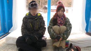 マジックミラー号!カップルでスキー場に来た23歳巨乳の彼女♡マッサージでいきなりま●こ指入れ!そのまま寝取られハメ撮り中出し!