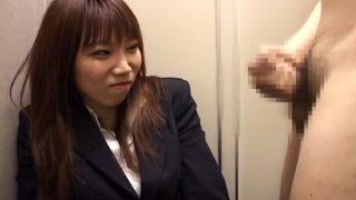 うぶな女のセンズリ鑑賞 スーツで来た25歳美人OLさん「センズリ?…ちょっとひくかも」ちんちん見せられ笑顔も勃起全開に思わず真顔…。
